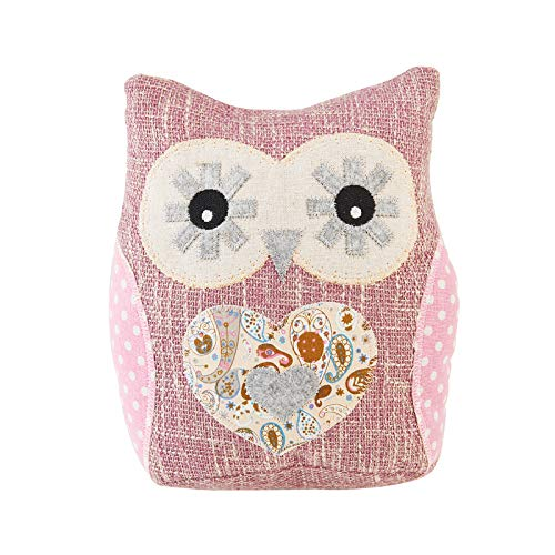 Elements Decorative Pink Owl Polyester Door Stopper