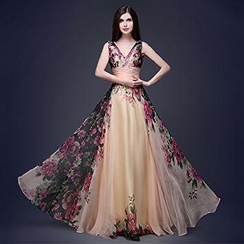Frauen-reizvolle elegante Sleeveless V-Ausschnitt Abend-Partei ...