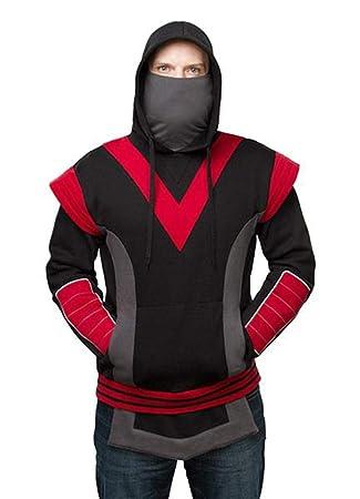 ThinkGeek, Inc. Adult Ninja Hoodie (Black) X-Large: Amazon ...