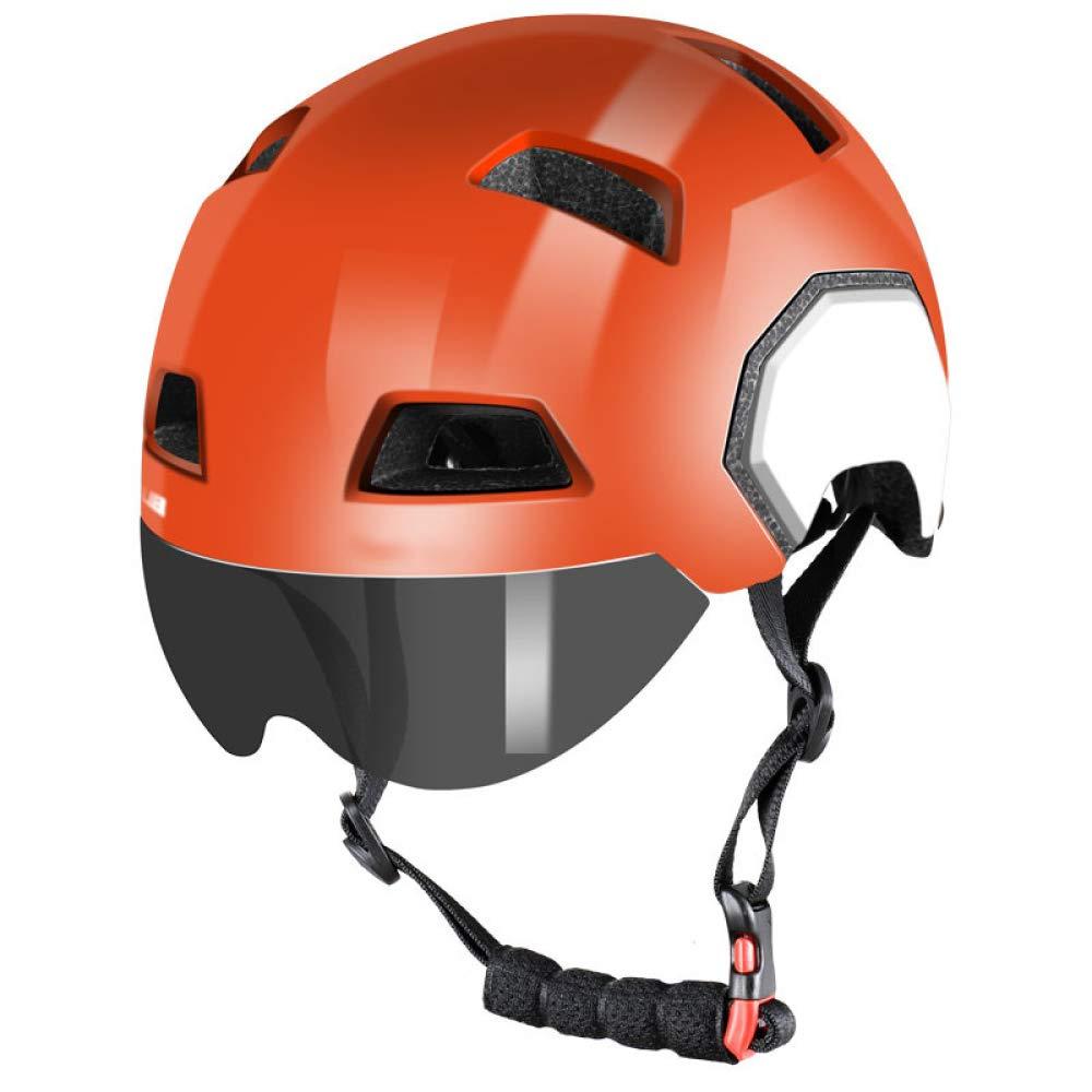 Box Czz Fahrradhelm, Männer Und Frauen Mit Schutzbrillen Integrierten Mountainbike Rennrad Helm, Fahrradausrüstung,B,L