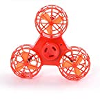 JEYKAY Mini 2.4GHz 4CH 6 Axis Gyro RC Quadcopter fidget spinner Speed Switch 3D Rollover H36 h8 h20 Helicopter Drone Dron spinner (Orange)