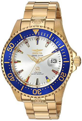 Invicta Men's Pro Diver Automatic-self-Wind Watch with Gold-Tone-Stainless-Steel Strap, 21.5 (Model: 21325) (Invicta Watch 47mm)