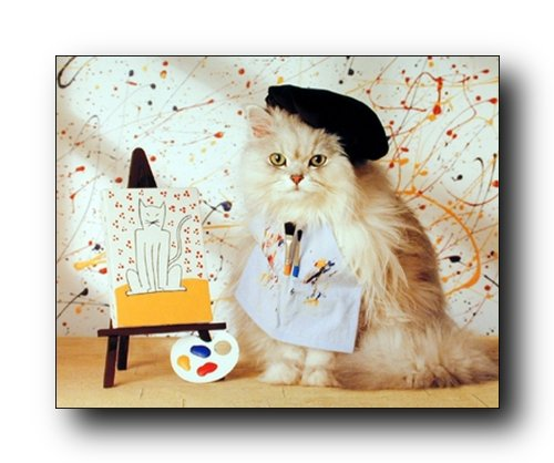 Cute Cat Kitten Painting Animal Kids Room Wall Decor Art Print Poster
