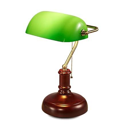 OOFAF LIGHT Lámpara de Mesa, luz de Escritorio de Cristal Verde ...