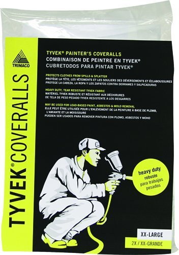 Trimaco 450-544 Painter's Tyvek HD Heavy-Duty Coveralls, White by Trimaco (Image #2)