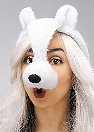 Bristol Novelty Lamb Or Sheep Mask On Headband With Ears Amazon Co Uk Toys Games