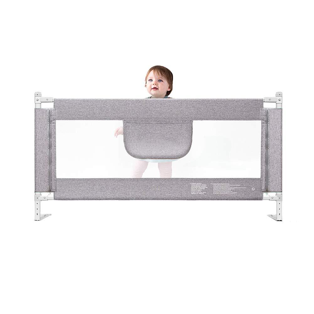JY 余分なロングベッドレール子供、安全垂直エレベーターベッドガード幼児、ベッドサイド手すり180-200cm乳児チャイルドバッフルグレー (サイズ さいず : 200cm) 200cm  B07M5BNBGQ
