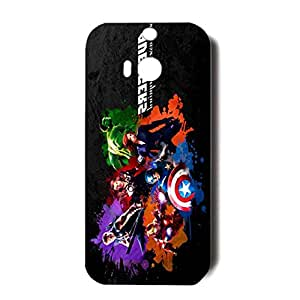 Colorful Heros The Avengers 3D Generic Case Back Cover for HTC One M8