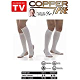 Copper Fit Energy Compression Socks White Size XL Men 9-12 or Women 10-13