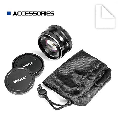 Meike MK-4/3-50-2.0 50mm f 2.0 Large Aperture Manual Focus Lens APS-C for 4/3 System Mirrorless Cameras Olympus/Panasonic/Lumix Mirrorless Camera