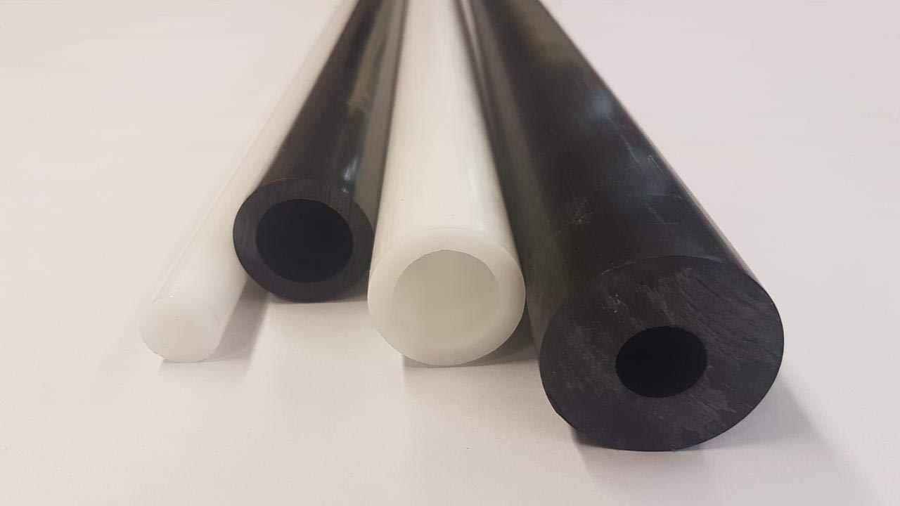 POM Hohlstab Kunststoff Rundrohr 40x20mm L= 500-2000mm schwarz 2000mm