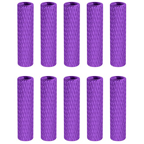 10PCS HobbyPark Aluminum M3x20mm Standoff Spacer Female-Female Round Column RC Multirotor Parts DIY Purple