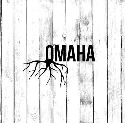 Omaha Wall Decals Decor - USA City State Roots Rooted Art Stickers - Omaha Bathroom Mirrors