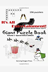 Giant Puzzle Book: TV-Movies-Books-Music-Sports (It's All Entertainment) Paperback