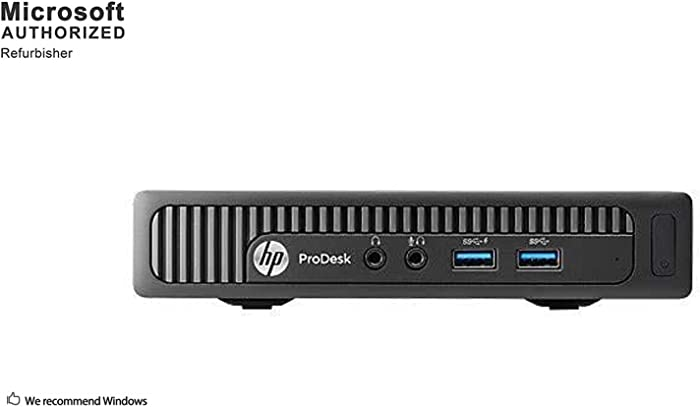 HP ProDesk 600 G1 Mini Business Desktop PC, Intel Core Quad i5 4590T up to 3.0GHz, 8GB DDR3, 500GB, WiFi, BT, VGA, DP, Windows 10 64 Bit-Multi-Language Supports English/Spanish/French(Renewed)