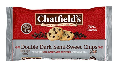 Organic Semi Sweet - Chatfield's All Natural Baking Chips, Double Dark Semi-Sweet, 10 Ounce