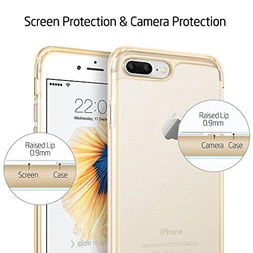iPhone 7 Plus Funda, ESR Carcasa iPhone 7 Plus Case Cover Borde Suave + Duro Funda para iPhone 7 Plus 5.5 - Transparente Clara Negro