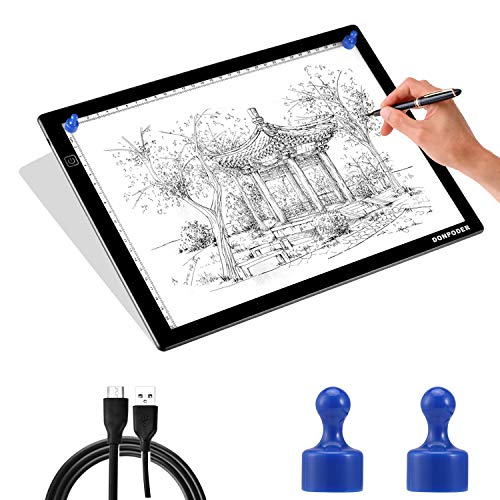 17in Light Box for Tracing- Light Board for Diamond Painting Art A4 Ultra Thin Light Pad for Drawing Sketching Animation Stencilling with 2 Magnetic Pins (2nd GEN Light pad-A4M)