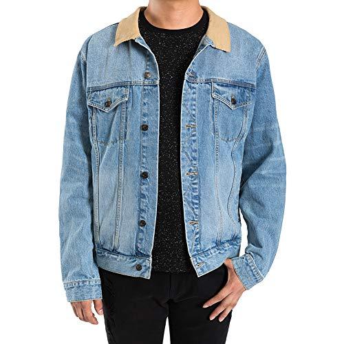 NE5 Jeans Denim Jacket Men Young Fashion Breathable Vintage Blue Jean Jacket