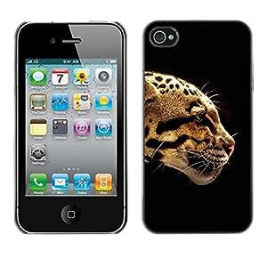 SHIMIN CAO- Dise?o Caso duro de la cubierta Shell protector FOR Apple iPhone 4 4S 4G- leopard