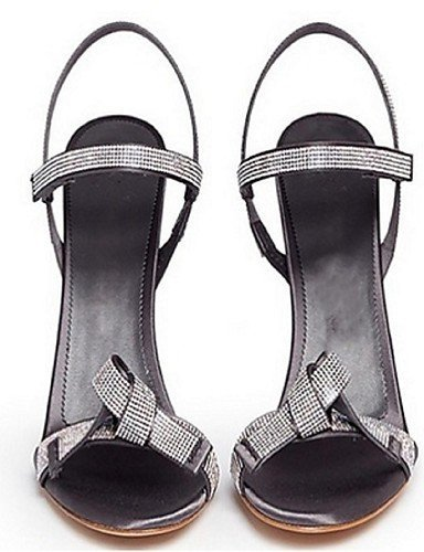 ShangYi Womens Shoes Leatherette Stiletto Heel Open Toe Sandals Office & Career / Party & Evening / Dress Gray gray