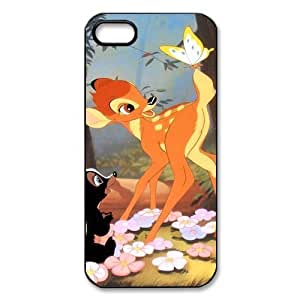 Customize Black White Cartoon Disney Bambi Back Case for Iphone 5/5S Case CoverJN-2179