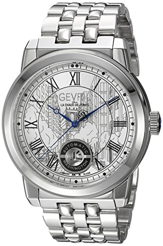 Gevril-Mens-Washington-Swiss-Automatic-Stainless-Steel-Casual-Watch-ColorSilver-Toned-Model-2620B