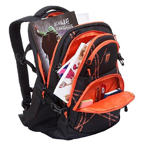 Casual Black 2 RU 618 Orange Black Daypack black Grizzly Orange 2 dxz1adq