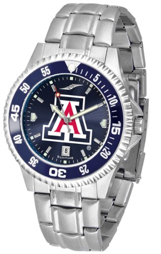 Wildcats Competitor Watch (Arizona Wildcats Competitor Steel AnoChrome Color Bezel Men's Watch)