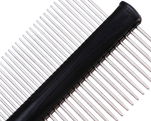 Double-side Grooming Comb for Dogs Cats Pet Flea Combs PINK by Panda Superstore (Image #1)