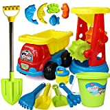 VGHJK Children's Beach Toy Car Large Sandglass Bucket Shovel Male And Female Baby Dredging Sand Play Sand Toys Set Tools Water Indoor Bathroom Toys(random Color),F