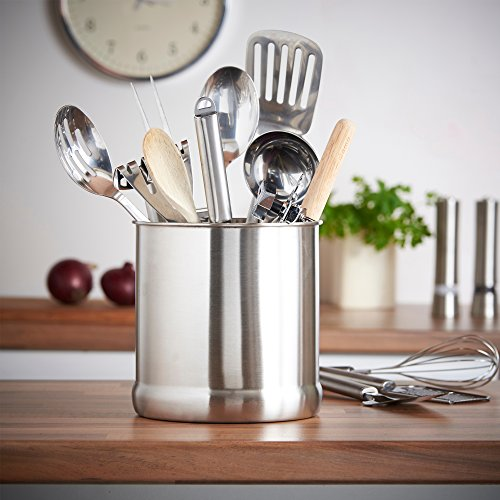VonShef Stainless Steel Utensil Holder Large Capacity