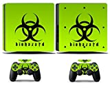 Cosines PS4 Slim Stickers Vinyl Decal Protective Console Skins Cover for Sony Playstation 4 Slim and 2 Controllers Biohazard