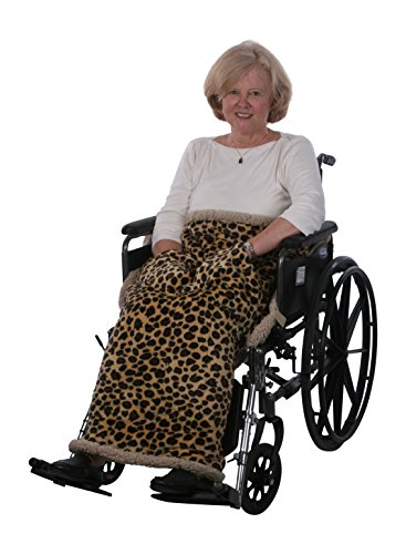 Granny Jo Products Heavyweight Wheelchair Blanket, Animal Print by Granny Jo Products