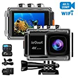 ieGeek Action Camera 20MP 4K WiFi Sports Cam Ultra HD Waterproof Camera 98ft Underwater DV Camcorder 170° Wide-Angle with EIS Sony Sensor/External Mic/2 Batteries/Carry Case/Mounting Accessories Kit Review