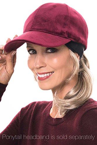 Headcovers Unlimited Velour Vanna Baseball Hat   Ball Cap for Fall & Winter Vanna - Wine -