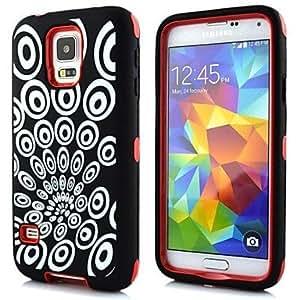 GX Caso del pavo real protector de la cubierta del cuerpo completo para Samsung Galaxy i9600 S5 , Purple