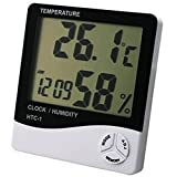 Thermometer Indoor Digital LCD Hygrometer Temperature Humidity Meter Alarm Cloc