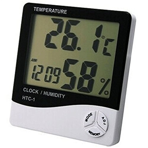Thermometer Indoor Digital LCD Hygrometer Temperature Humidity Meter Alarm Cloc by Generic