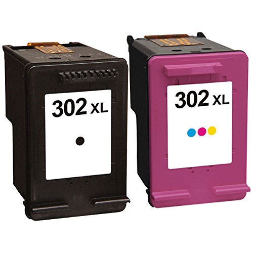 Picture Expert 302XL F6U68AE // F6U67AE Compatible Black and Colour High Capacity Ink Cartridges for HP Printers