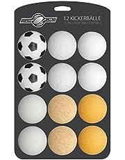 12x stuks speedball foosball ballen voor tafelvoetbal foosball ball set selectie van verschillende soorten (kurk, PE, PU, ABS) 35mm