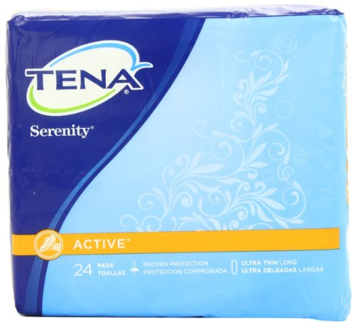 Tena Serenity Wrapped Pads, Ultra Thin, 24 Count (Pack of 6), Health Care Stuffs