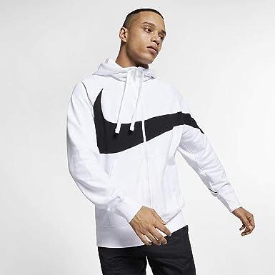Edredón petróleo crudo Bermad  Nike Men's Open Hooded Sweatshirt White Black AR3064 100 - White - M:  Amazon.co.uk: Clothing