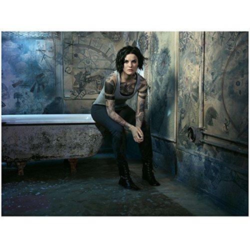 Blindspot (TV Series 2015 - ) 8 inch by 10 inch PHOTOGRAPH Jaimie Alexander Full Body Sitting on Edge of Bathtub kn - Edge Spot Series
