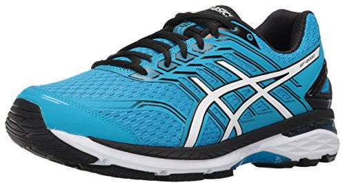 ASICS Men's GT-2000 5 Running Shoe, Island Blue/White/Black,