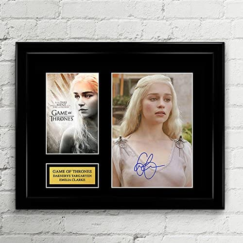 Emilia Clarke Game of Thrones Daenerys Targaryen Fine Art Canvas Print Gift