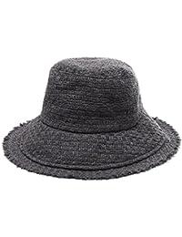 a073c550ecd Wide brimmed Weave Bucket Hat Warm Winter Women Packable Cap