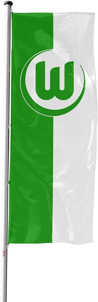 VfL Wolfsburg Flagge Hissfahne Logohistorie 120 x 300 cm