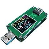 YZXstudio USB Multimeter ZY1270 0.0001V 0.0001A 3.5-24V for Testing Power Bank Voltage, Current, Ah/Wh, D+/D- Recognition, Cable Resist