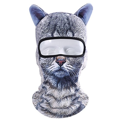 Hi-crazystore Animal Mask Chrismas Cosplay Winter Fleece Ski - Fleece Cosplay Cap